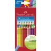 """Faber-Castell Színes ceruza készlet, háromszögletű, FABER-CASTELL \""""Grip 2001\"""", 24 különböző szín [24 db]"""