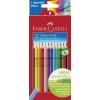 """Faber-Castell Színes ceruza készlet, háromszögletű, FABER-CASTELL """"Grip 2001"""", 12 különböző szín"""