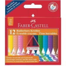 """Faber-Castell Zsírkréta, háromszögletű, FABER-CASTELL """"Grip"""", 12 különböző szín kréta"""