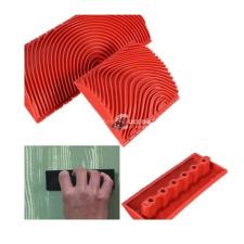 Faerezet mintázó, flóder gumi barkácsolás, csiszolás, rögzítés
