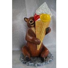 Fagyi-147 cm-MEDVE-barna/gombócos fagyival üzletberendezés, dekoráció