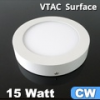 FALON kívüli LED panel (kör) - 15 Watt - hideg fényű