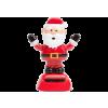 FAMILY CHRISTMAS 11459S Szolár dekoráció - mikulás fekete kesztyűvel - 10 cm
