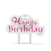 Family Pound Happy Birthday gyertya fehér-lila 57501A