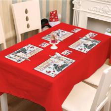 Family Tányér és poháralátét - mikulás - 8 db / csomag karácsonyi dekoráció