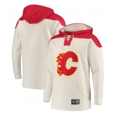 Fanatics Branded Calgary Flames fĂŠrfi pulóver white NHL Breakaway Lace Up - M,(USA)