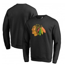 Fanatics Branded Chicago Blackhawks fĂŠrfi pulóver black Primary Team Logo - L
