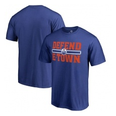 Fanatics Branded Edmonton Oilers fĂŠrfi póló blue Hometown Defend - XXL