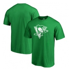 Fanatics Branded Pittsburgh Penguins fĂŠrfi póló green St. Patrick´s Day White Logo - S