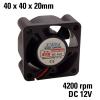 FD4020 12V Ventilátor 40x40x22