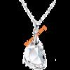 Fehér cseppkristály nyaklánc