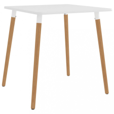 Fehér fém étkezőasztal 80 x 80 x 75 cm bútor
