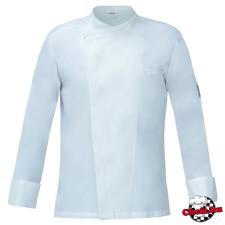 Fehér patentos szakácskabát, LUXSATiN-ból munkaruha