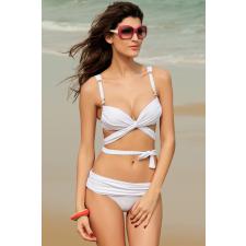 Fehér Push Up pántos Bikini-Large fürdőruha, bikini