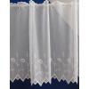Fehér sable vitrage függöny, hímzett méterben/0016/Cikksz:01320042