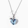 Fehérarany bevonatos szivecske medálos nyaklánc kék jwr-1228