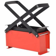 fekete és piros acél papír brikettáló 34 x 14 x 14 cm hűtés, fűtés szerelvény