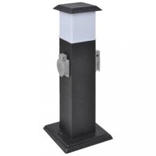 Fekete Kert Csatlakozó Oszlop Lámpával villanyszerelés