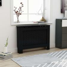 Fekete MDF radiátorburkolat 112 x 19 x 81 cm hűtés, fűtés szerelvény