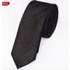 Fekete mintás vékony nyakkendő