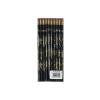Fekete radíros ceruza, trombitás mintával