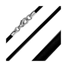 Fekete színű kaucsuk nyaklánc medálokhoz nyaklánc