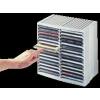 """FELLOWES CD-tároló, automata kiemelőrendszerű, 30+18 db-os, FELLOWES """"Spring"""", fekete"""