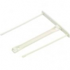 FELLOWES Lefűző klipp, műanyag, fehér, 100 mm, FELLOWES (100db)