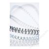 FELLOWES Spirál, fém, 6 mm, 21-35 lap, FELLOWES, fehér (IFW53215)