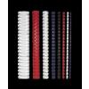 FELLOWES Spirál, műanyag, 8 mm, 21-40 lap, , 25 db, fehér