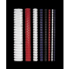FELLOWES Spirál, műanyag, 8 mm, 21-40 lap, , 25 db, fekete