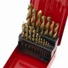fémfúró klt. HSS TITÁN bevonatú, 19db, 1-10mm, (fém dobozban)