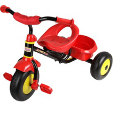 Fémvázas tricikli - piros tricikli
