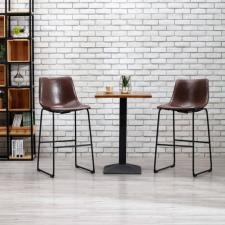 Fényes barna műbőr bárszék bútor