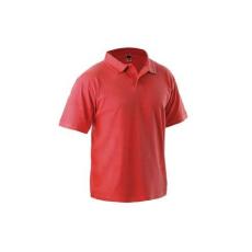 Férfi pamut rövid ujjú ingpóló, piros, méret: XXL