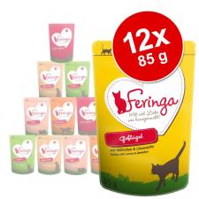 Feringa 12x85g Feringa tasakos multipack nedves macskatáp - nyúl & pulyka macskaeledel