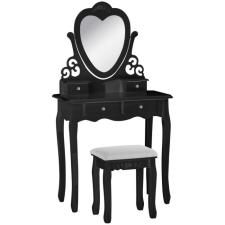 Fésülködő asztal London, fekete bútor