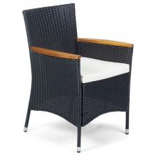 Fieldmann FDZN 6010-PR Rattan kerti szék, fa betétekkel kerti bútor