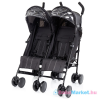 Fillikid - ikerbabakocsi Duo 333-06 fekete