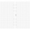 FILOFAX Kalendárium betét, jegyzetlap, personal méret, kockás, FILOFAX, fehér