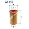 Filtron AR316 Filtron levegőszűrő