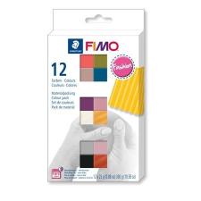 """FIMO Gyurma, készlet, 12x25 g, égethető, FIMO """"Soft Fashion"""", 12 különböző szín kreatív és készségfejlesztő"""
