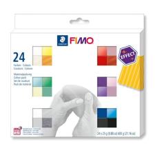 """FIMO Gyurma, készlet, 24x25 g, égethető,  """"Effect Colours"""" 24 különböző szín gyurma"""