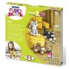 """FIMO Gyurma készlet, 4x42 g, égethető, FIMO """"Kids Form & Play"""", cicák"""