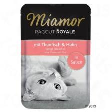 Finnern Ragout Royale, szószban 22 x 100 g - Tonhalas és csirkehúsos macskaeledel