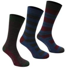 Firetrap zokni 3 pár/csomag, Csíkos - Firetrap 3 Pack Formal Socks
