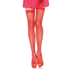 FISHNET STOCKING W/ LACE TOP O/S RED