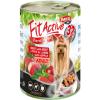 FitActive; Panzi FitActive DOG 415g konzerv marha-máj-bárány 415g