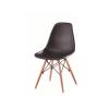 Fjord Modern műanyag szék, bükk - fekete - FJORD