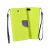 Flexi color book tok - LG G4 Stylus ( H635 ) - lime - sötétkék